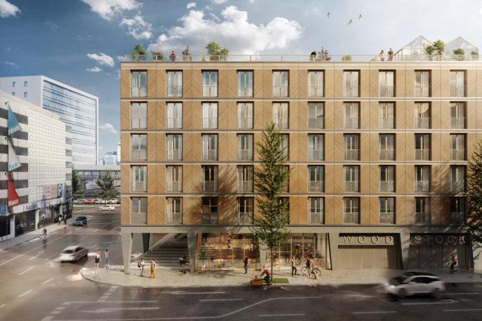 Eine Visualisierung in der Totale des neuen Gebäudes